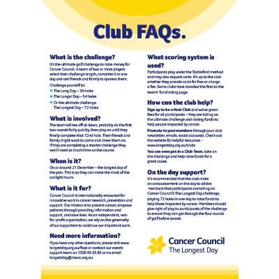 Club Fact Sheet